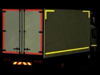 Marcaj reflectorizant pentru conturul camioanelor